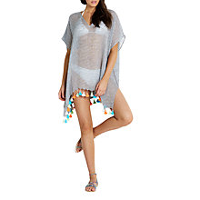 Buy Seafolly Fine Stripe Kaftan, Black/Multi Online at johnlewis.com