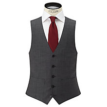 Buy John Lewis Sharkskin Super 100s Wool Regular Fit Waistcoat, Mid Grey Online at johnlewis.com