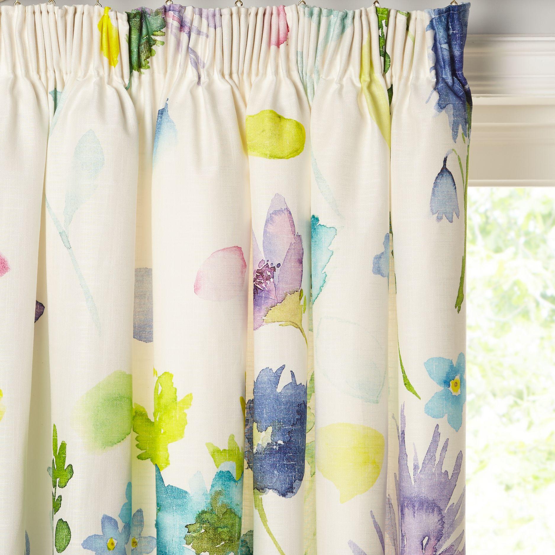 bluebellgray bluebellgray Tetbury Pair Lined Pencil Pleat Curtains