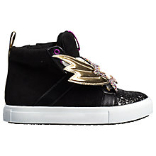 Buy Mini Miss KG Children's Shooting Star High Top Trainers, Black Online at johnlewis.com