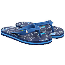 Buy Little Joule Children's Shark Flip Flops, Navy Online at johnlewis.com