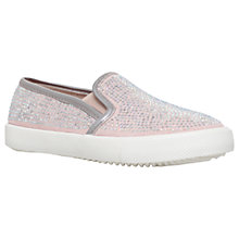Buy Mini Miss KG Children's Mega Magic Slip-On Trainers, Nude Online at johnlewis.com