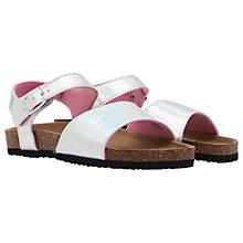 Buy Little Joule Children's Tippy Toes Sandals, Silver Online at johnlewis.com