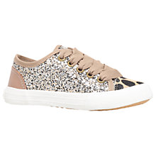 Buy Mini Miss KG Children's Mini Lucca Trainers, Gold Online at johnlewis.com