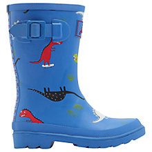Buy Little Joule Children's Skateasarus Wellington Boots, Blue Online at johnlewis.com
