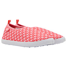 Buy Little Joule Children's Star Fish Slip On Trainers, Coral Pink Online at johnlewis.com