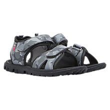 Buy Little Joule Children's Rock Camo Sandals, Grey/Navy Online at johnlewis.com