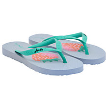Buy Little Joule Children's Strawberry Flip Flops, Blue Online at johnlewis.com