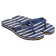 Buy Little Joule Children's Striped Flip Flops, Navy Online at johnlewis.com