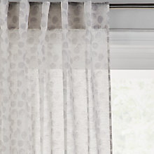 Buy John Lewis Croft Collection Honesty Hidden Tab Top Voile Panel Online at johnlewis.com