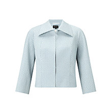 Buy Bruce by Bruce Oldfield Diamond Jacquard Jacket, Blue Online at johnlewis.com