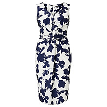 Buy Bruce by Bruce Oldfield Opaque Floral Dress, Silver/Navy Online at johnlewis.com
