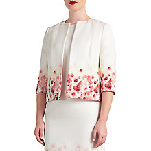 Buy Bruce by Bruce Oldfield Floral Placement Jacket, Ivory Online at johnlewis.com