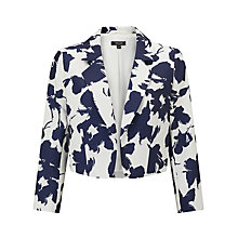 Buy Bruce by Bruce Oldfield Opaque Floral Jacket, Silver/Navy Online at johnlewis.com