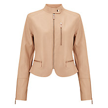 Buy Bruce by Bruce Oldfield Leather Jacket, Nude Online at johnlewis.com