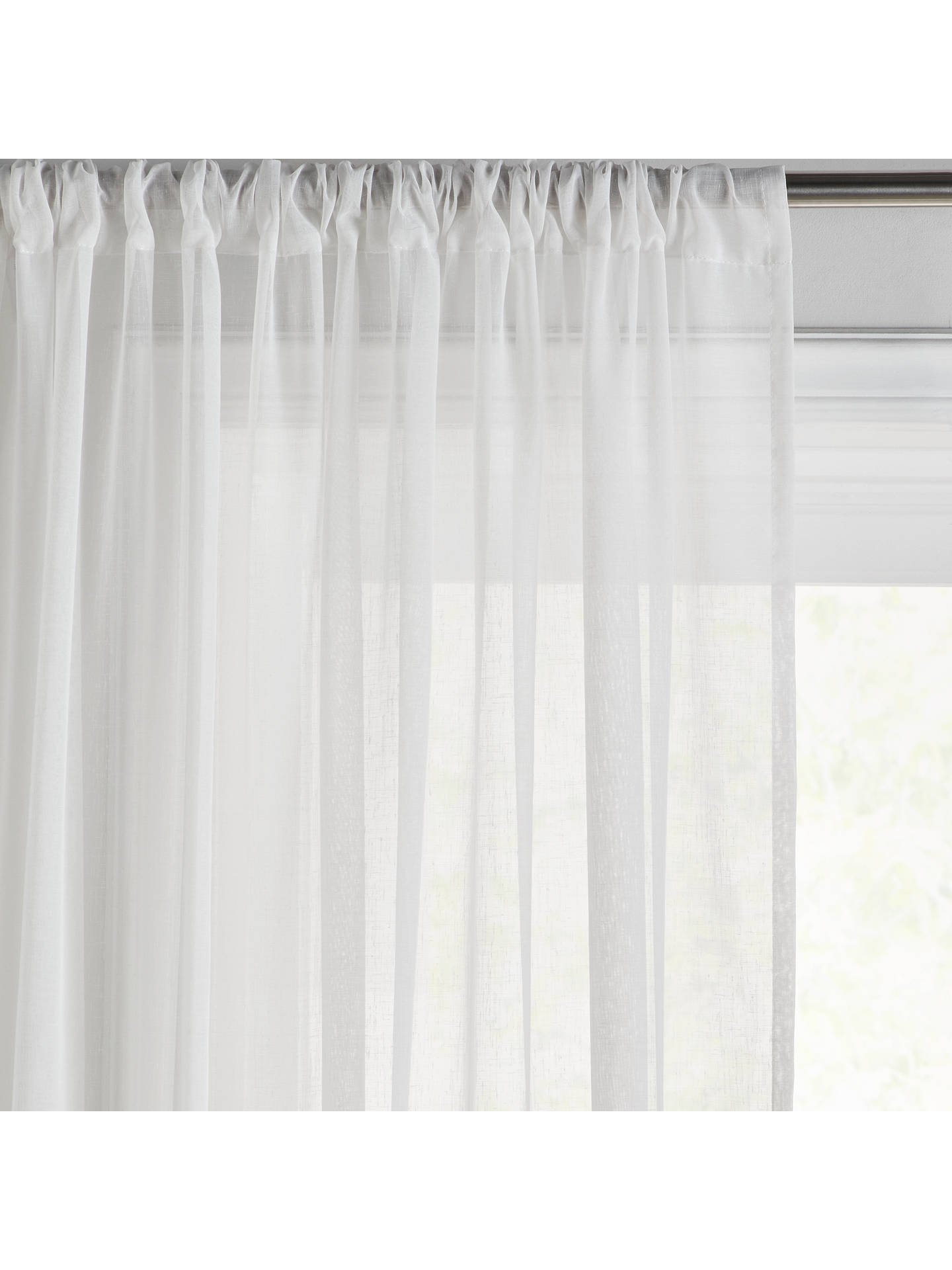 BuyJohn Lewis & Partners Ombre Voile Panel, Steel, W150 x Drop 150cm Online at johnlewis.com