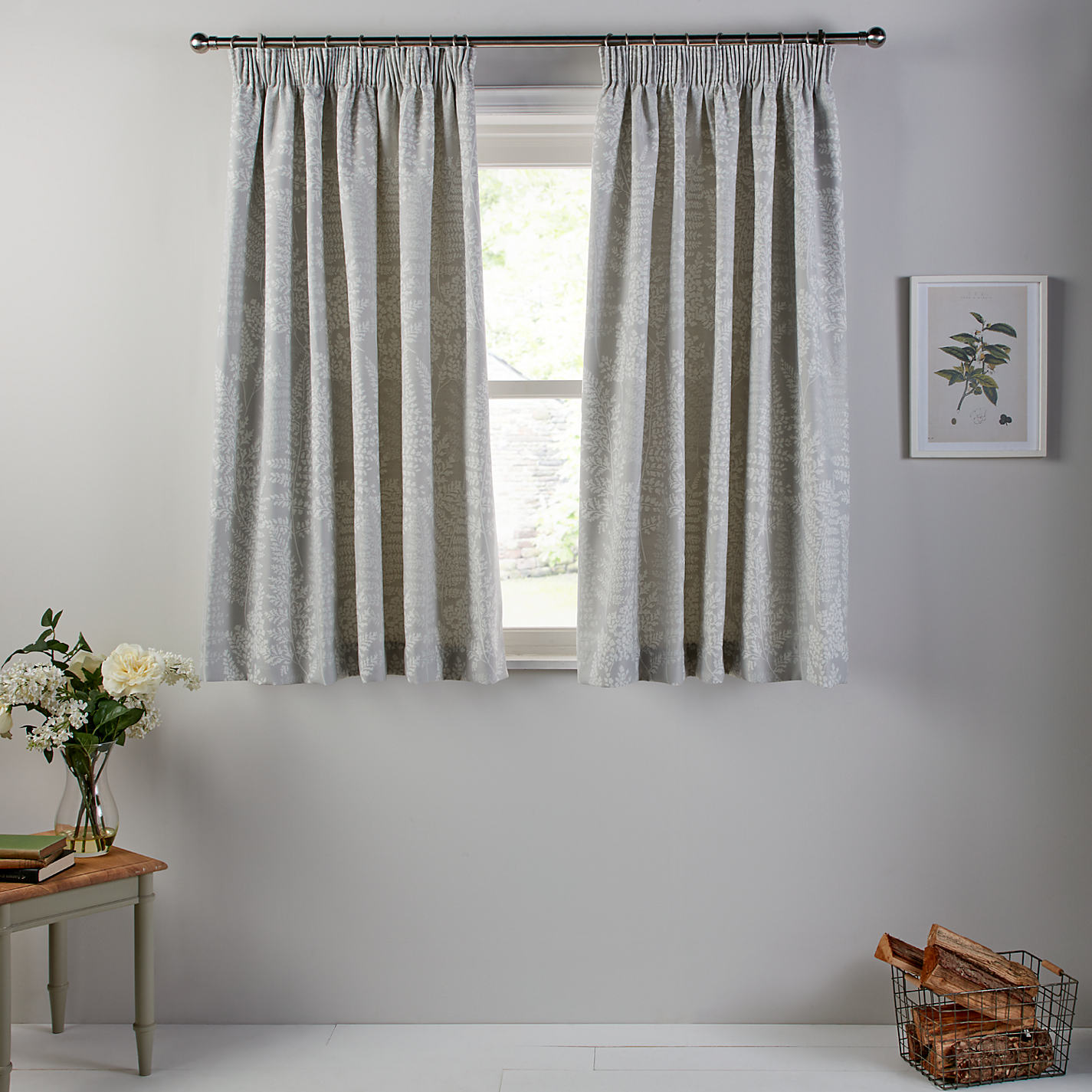 Buy John Lewis Fern Lined Pencil Pleat Curtains John Lewis - John lewis curtains grey