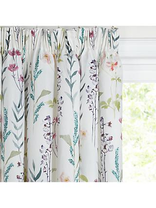 John Lewis & Partners Longstock Pair Lined Pencil Pleat Curtains, Multi