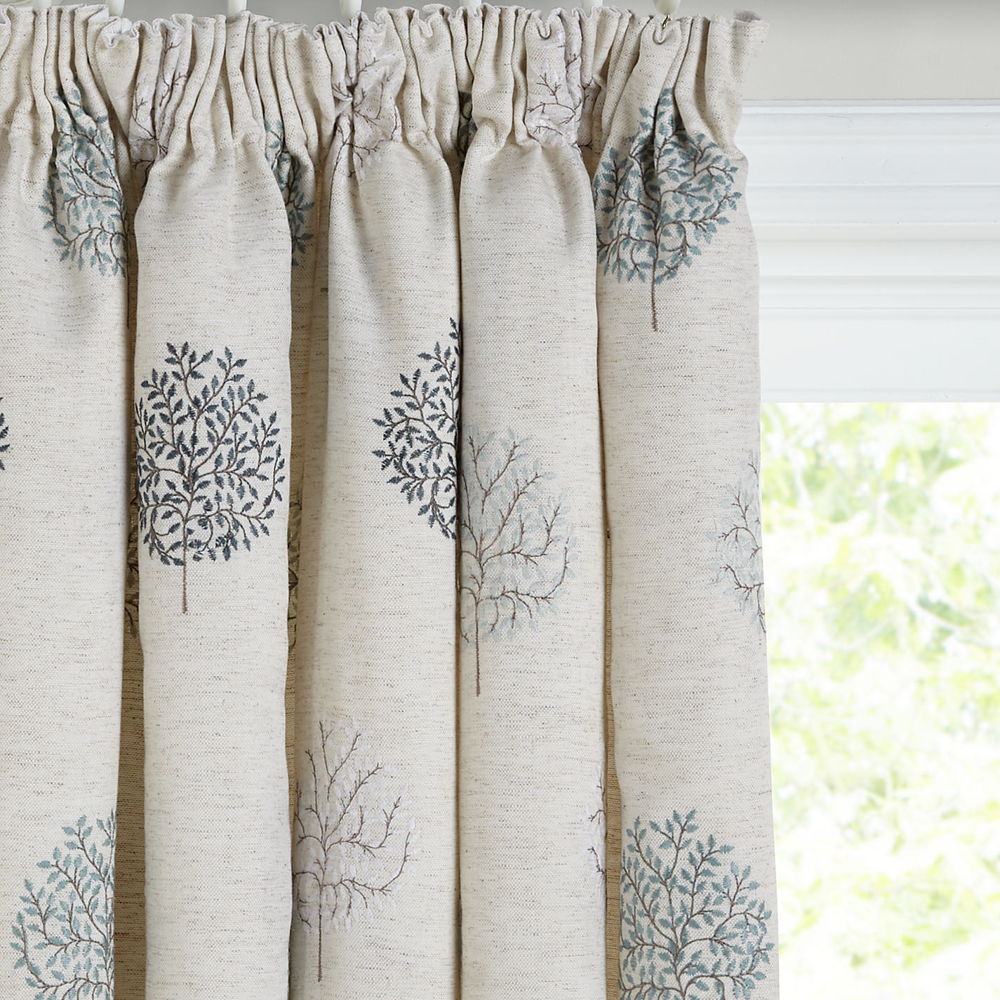 Grey and yellow curtains uk john lewis - Buy John Lewis Mini Olive Trees Lined Pencil Pleat Curtains Duck Egg Online At Johnlewis