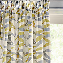 Buy John Lewis Lina Leaf Thermal Lined Pencil Pleat Curtains Online at johnlewis.com