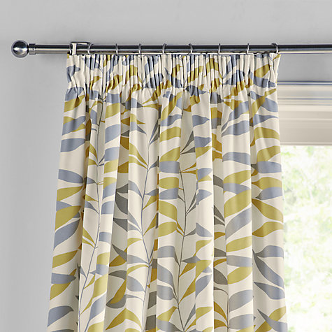 ... Buy John Lewis Lina Leaf Thermal Lined Pencil Pleat Curtains Online At  Johnlewis.com ...