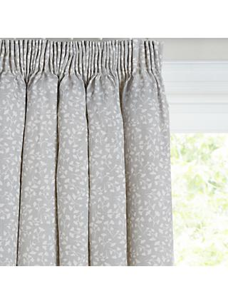 John Lewis & Partners Arley Pair Blackout Lined Pencil Pleat Curtains