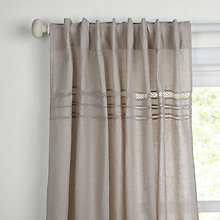Buy John Lewis Croft Collection Althea Stitch Unlined Hidden Tab Top Curtains Online at johnlewis.com