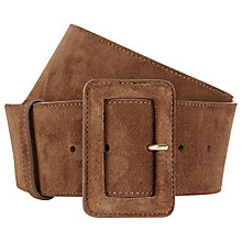 Buy Hobbs Louise Wide Leather Belt Online at johnlewis.com