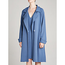 Buy Winser London Jersey A-Line Coat, Blue Slate Online at johnlewis.com