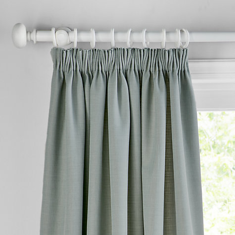 Buy John Lewis Barathea Blackout Lined Pencil Pleat Curtains - John lewis curtains grey