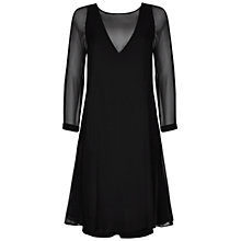 Buy Winser London Silk Layered Dress, Black Online at johnlewis.com