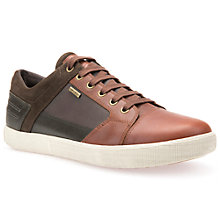 Buy Geox Taiki ABX Trainers, Light Brown/Chestnut Online at johnlewis.com