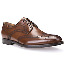 Buy Geox Hampstead Derby Brogues, Cognac Online at johnlewis.com