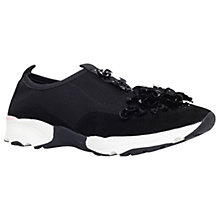 Buy Carvela Lullaby Embellished Trainers, Black Online at johnlewis.com
