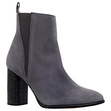 Buy Carvela Spectre Block Heeled Ankle Boots, Grey Online at johnlewis.com