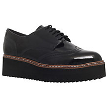 Buy Carvela Lucid Flatform Brogues, Black Patent Online at johnlewis.com