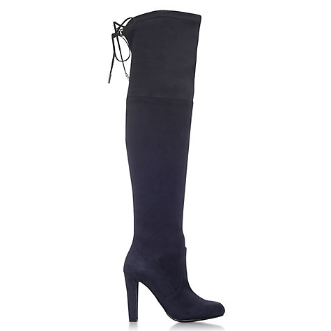 Buy Carvela Sammy Lacing Detail Over The Knee Boots Online at johnlewis.com