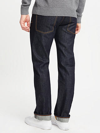 Buy JOHN LEWIS & Co. Unwashed Japanese Selvedge Denim Jeans, Blue, 30R Online at johnlewis.com