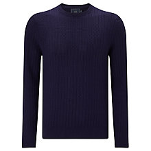 Buy John Lewis Textured Cotton Crew Neck Jumper Online at johnlewis.com