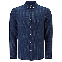 Buy Kin by John Lewis Dobby Chambray Shirt, Navy/Multi Online at johnlewis.com