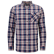 Buy John Lewis Slub Check Shirt, Blue Online at johnlewis.com