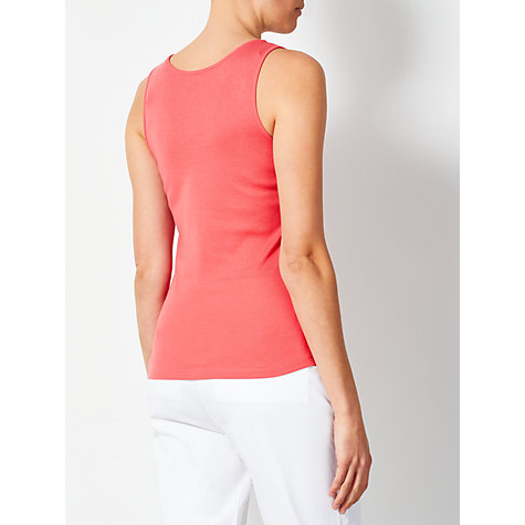 Buy John Lewis Jersey Sleeveless Tank Top, Coral Pink Online at johnlewis.com