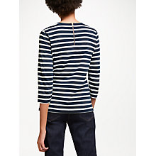 Buy John Lewis Zip Detail Breton Stripe Top Online at johnlewis.com