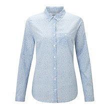 Buy John Lewis Archive Floral Print Shirt, Blue/White Online at johnlewis.com