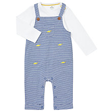 Buy John Lewis Baby Dinosaur Jersey Dungaree and Top Set, Blue Online at johnlewis.com