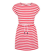 Buy John Lewis Girls' Drawstring Waist Striped Dress Online at johnlewis.com
