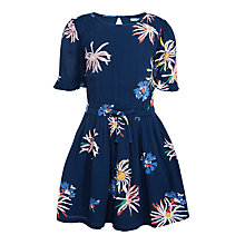 Buy John Lewis Girls' Floral Dress, Insignia Blue Online at johnlewis.com