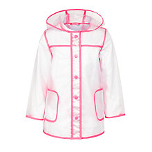 Buy John Lewis Girls' Transparent Showerproof Mac, Clear/Pink Online at johnlewis.com