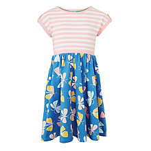 Buy John Lewis Girls' Stripe and Butterfly Dress, Blue/Multi Online at johnlewis.com