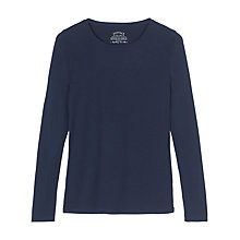 Buy Fat Face Hollie Long Sleeve T-Shirt, Navy Online at johnlewis.com